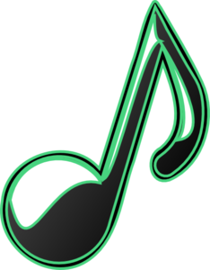 Green Bubble Music Note Clip Art