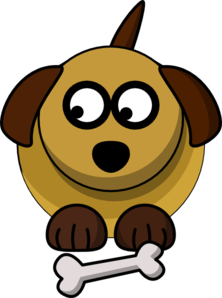 Dog Looking Left-down Clip Art