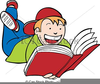 Free Child Reading A Book Clipart Image