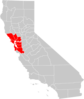 California Bay Area County Map Clip Art
