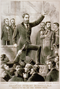 Charles Stuart Parnell, M.p. : President Of The Irish Land League - Addressing A Meeting Image