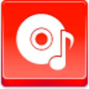 Free Red Button Icons Music Disk Image
