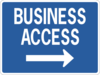 Business Access Sign Clip Art