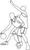 Basketball Offense And Defense Clip Art