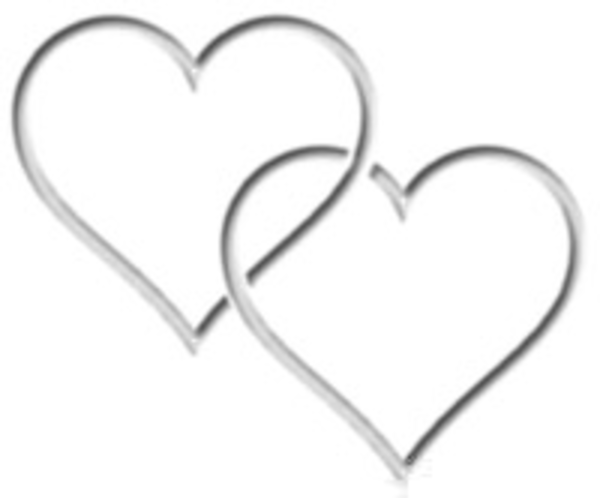 Two Silver Hearts Clipart | Free Images at Clker.com ...