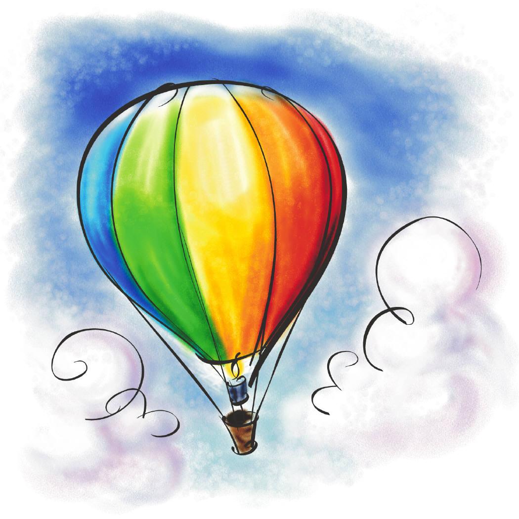 Hot Air Balloon Card Back | Free Images at Clker.com - vector clip art ...