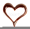 Melted Chocolate Heart Image
