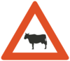 Cattle Road Sign Clip Art