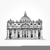 Church Clipart Black And White Image