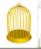 Empty Bird Cage Clipart Image