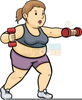 Clipart Fat Lady Exercising Image