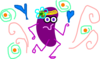 Purple Jelly Bean Dancing Clip Art