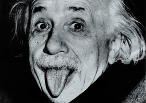 Albert Einstein Tongue Image