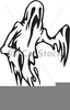 Free Black And White Ghost Clipart Image