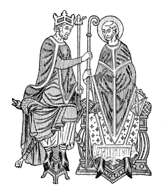 Medieval King And Bishop Free Images At Clker Com Vector Clip Drawing King