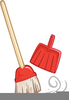 Sweeping Brooms Clipart Image