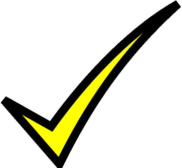 Check Mark- Yellow Clip Art at Clker.com - vector clip art ...