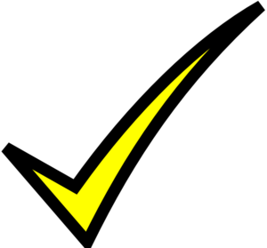 Check Mark- Yellow Clip Art