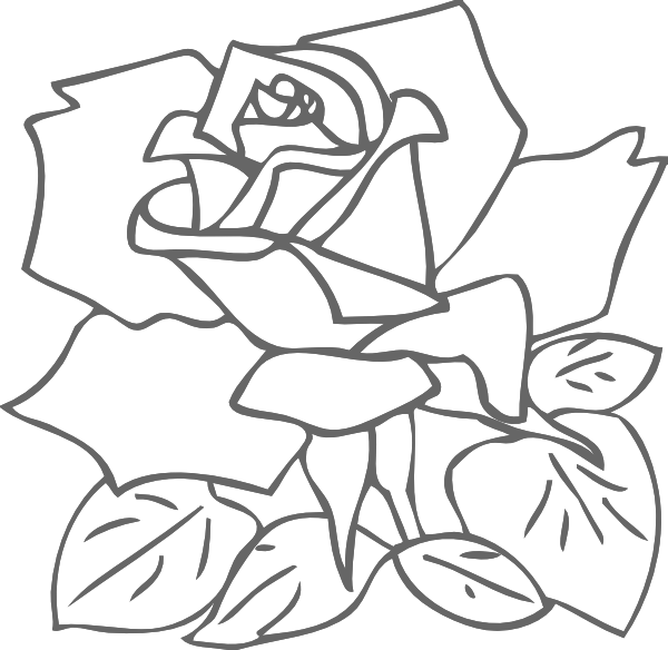 Outline Rose Clip Art at Clker.com - vector clip art ...
