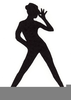 S Girl Dancing Clipart Image