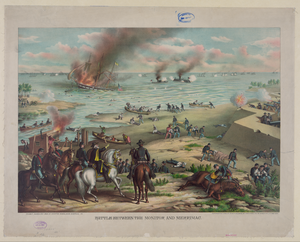 Battle Between The Monitor And Merrimac--fought March 9th 1862 At Hampton Roads, Near Norfolk, Va. Image