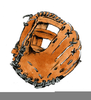 Free Clipart Baseball Glove Image