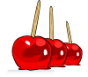 Candied Apples Clip Art