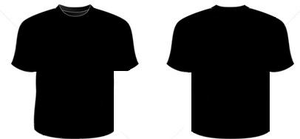 Stock Photo Silkscreen Series Black And White Realistic Blank Round Neck T Shirt Templates Front And Back Image