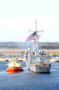 The Guided Missile Frigate Uss Dewert (ffg 45) Arrives Home After Completing A Six Month Deployment Image