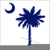 Palmetto Tree And Crescent Moon Clipart Image