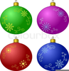 Christmas Ornament Ball Clipart Image