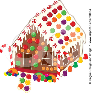 Royalty Free Rf Clipart Illustration Of A Christmas Gingerbread House Decorated With Colorful Candies Image