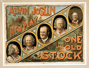 Alvin Joslin In A New Play One Of The Old Stock Image