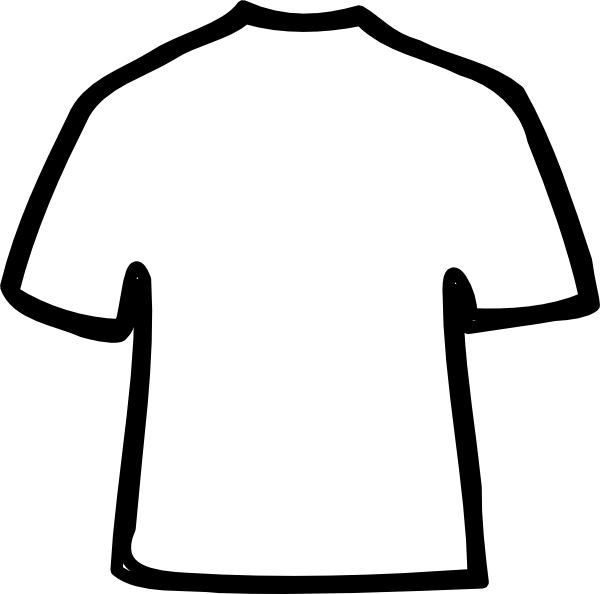 t shirt shape clipart - photo #22