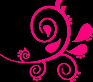swirl paisley pink clip art at clker com vector clip art online rh clker com paisley clip art images paisley clip art borders