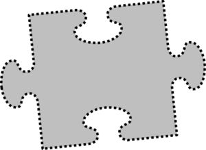 Gray Jigsaw Puzzle Piece Clip Art