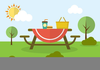 Picnic In The Park Clipart Image