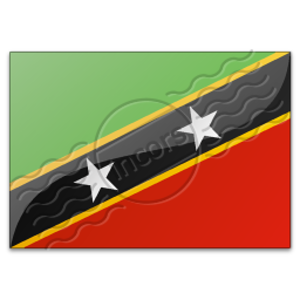 Flag Saint Kitts And Nevis 3 Image