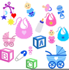 Free Baby Item Clipart Image
