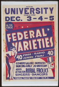 Federal Varieties 40 Stage, Radio, Screen Stars. Image