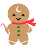 Gingerbread Man Clipart Image
