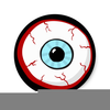 Scary Eyeball Clipart Image