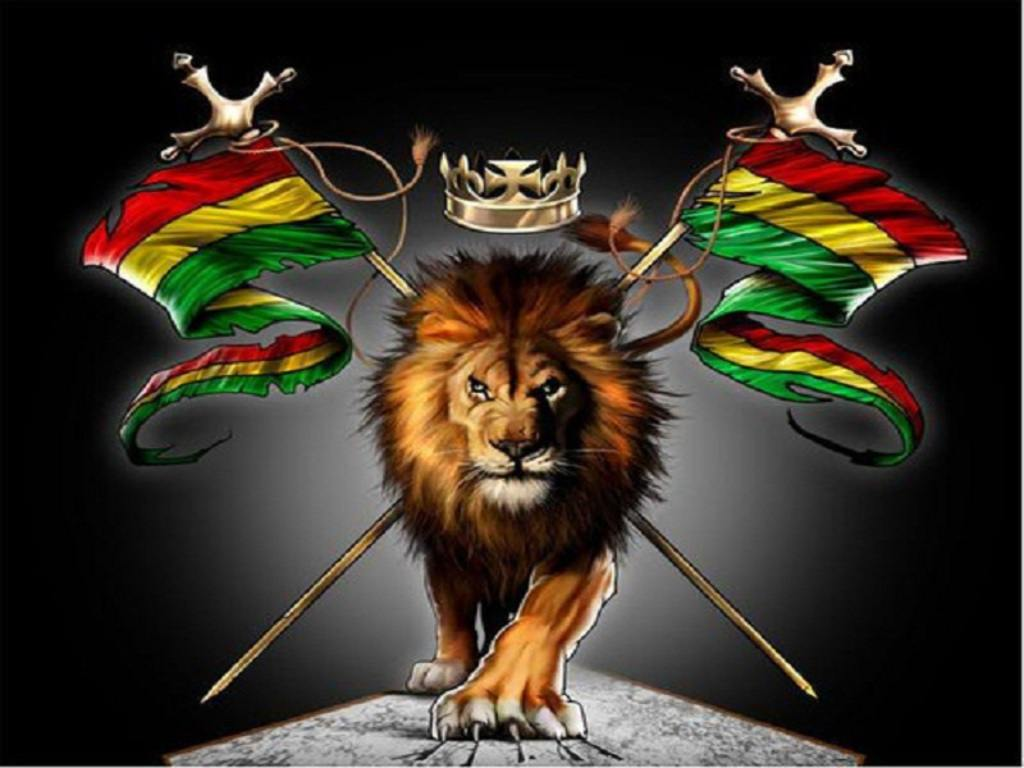 rastafarian lion wallpaper - photo #3