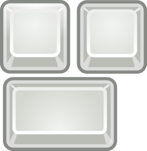 Blank Keyboard Keys Clip Art