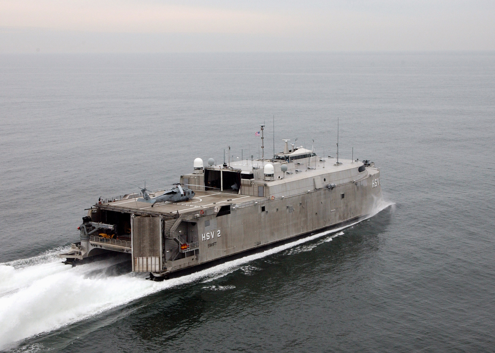 High Speed Vessel Two (hsv 2) Swift Glides Through The Waters Of The ...
