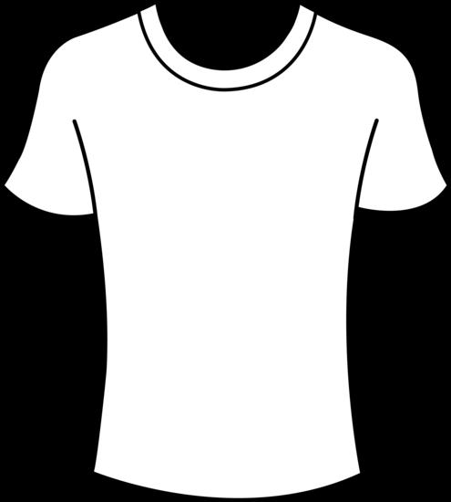 T Shirt Design Line Art : Tshirt template men free images at clker vector