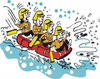 Water Rafting Clipart Image