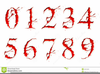 Halloween Numbers Clipart Image