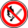 No Fire Or Flames Allowed Clip Art
