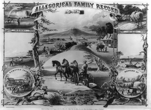 Allegorical Family Record Image